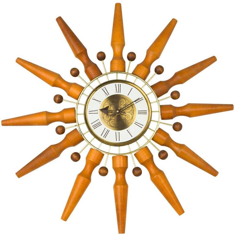 Seth Thomas Sunburst Clock, circa 1950