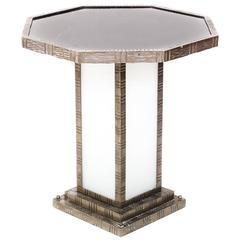 Art Deco Table in the Manner of Edgar Brandt, circa 1930
