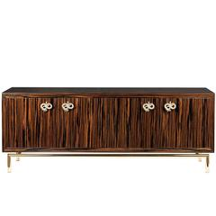 Fine Wood and Gold 'Secret 2' Sideboard