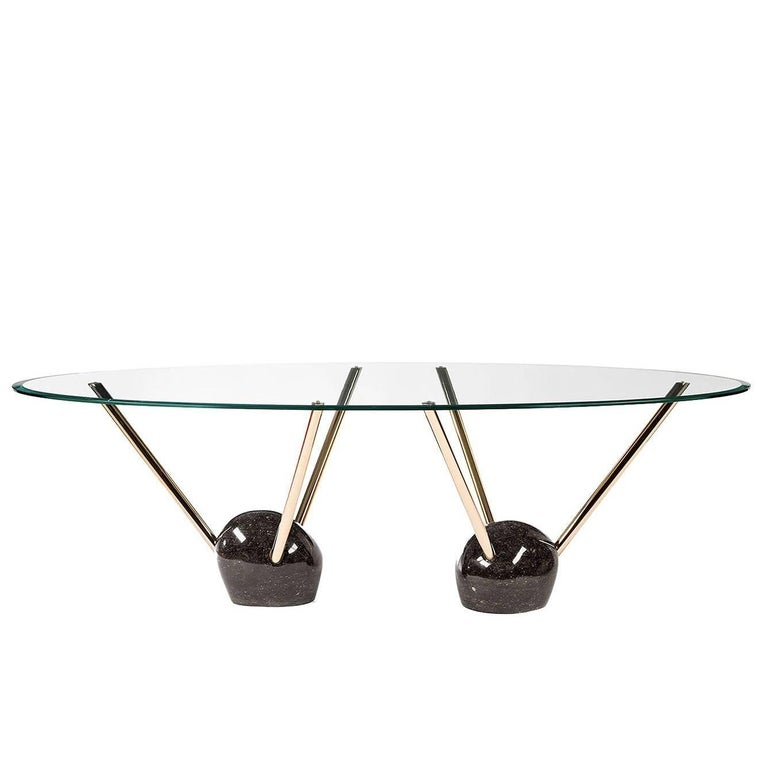 Rays Glass Top Dining Table For Sale
