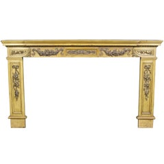 Large Edwardian Pine and Gesso Fire Surround
