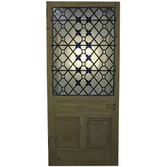 Antique Stained / Leaded Glass Front Door