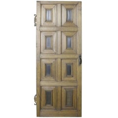 18th Century English Eight-Panel Oak Door