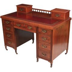Mahogany Pedestal Dickens Desk