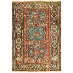 Antique Tribal Soumak Caucasian Rug