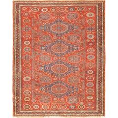 Antique Red Soumak Caucasian Rug