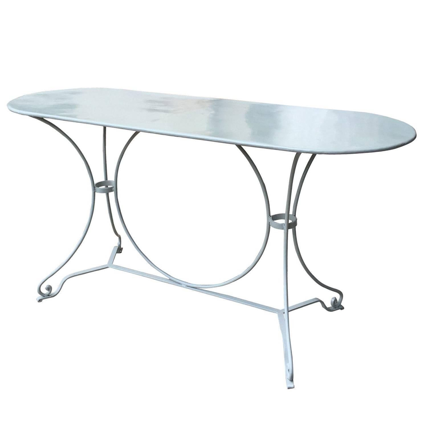 20th Century French Garden Table, Custom Painted