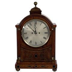 English Regency Mahogany Brass Inlaid Bracket Clock, circa 1820