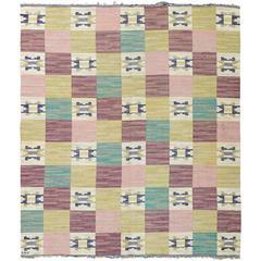 "Vintage Swedish Flat-Weave by Märta Måås-Fjetterström ""Rutmattan"""