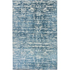 Oversized Aqua Element Rug in Blue