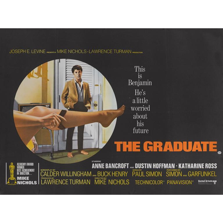 """The Graduate"" Original British Movie Poster For Sale"