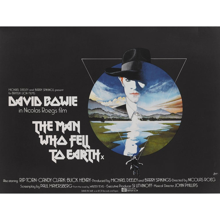 """the Man Who Fell to Earth"" Original British Movie Poster"