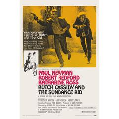 """""""Butch Cassidy and the Sundance Kid"""" Original American Movie Poster"""