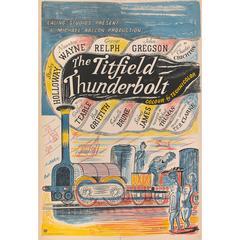"""The Titfield Thunderbolt"" Original British Movie Poster"