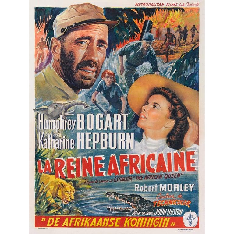 """""""The African Queen / La Reine Africaine"""" Original Belgian Movie Poster"""