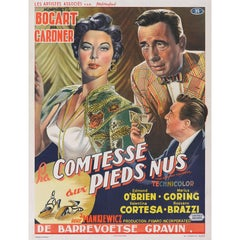 """The Barefoot Contessa / La Comtesse aux Pieds Nus"" Original Movie Poster"