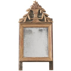 French 19th Century Painted and Gilt Mirror