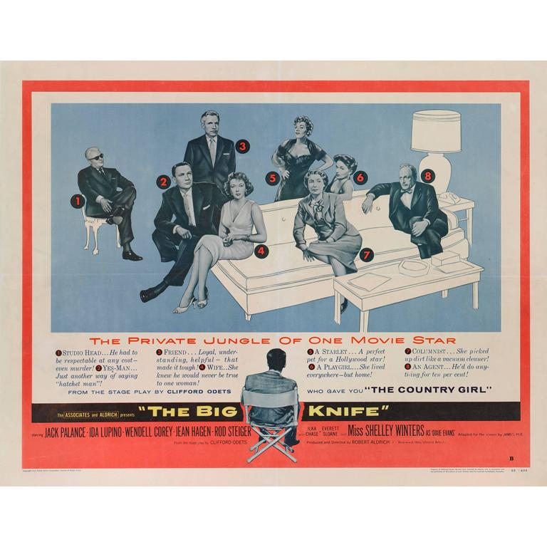 """""""The Big Knife"""" Movie Poster For Sale"""