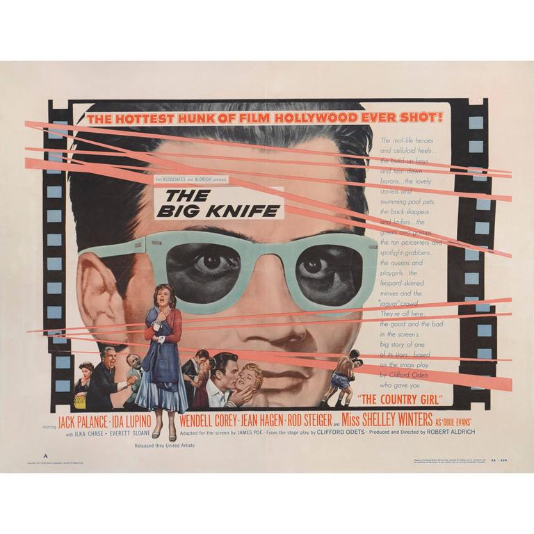 """Big Knife"" Movie Poster For Sale"