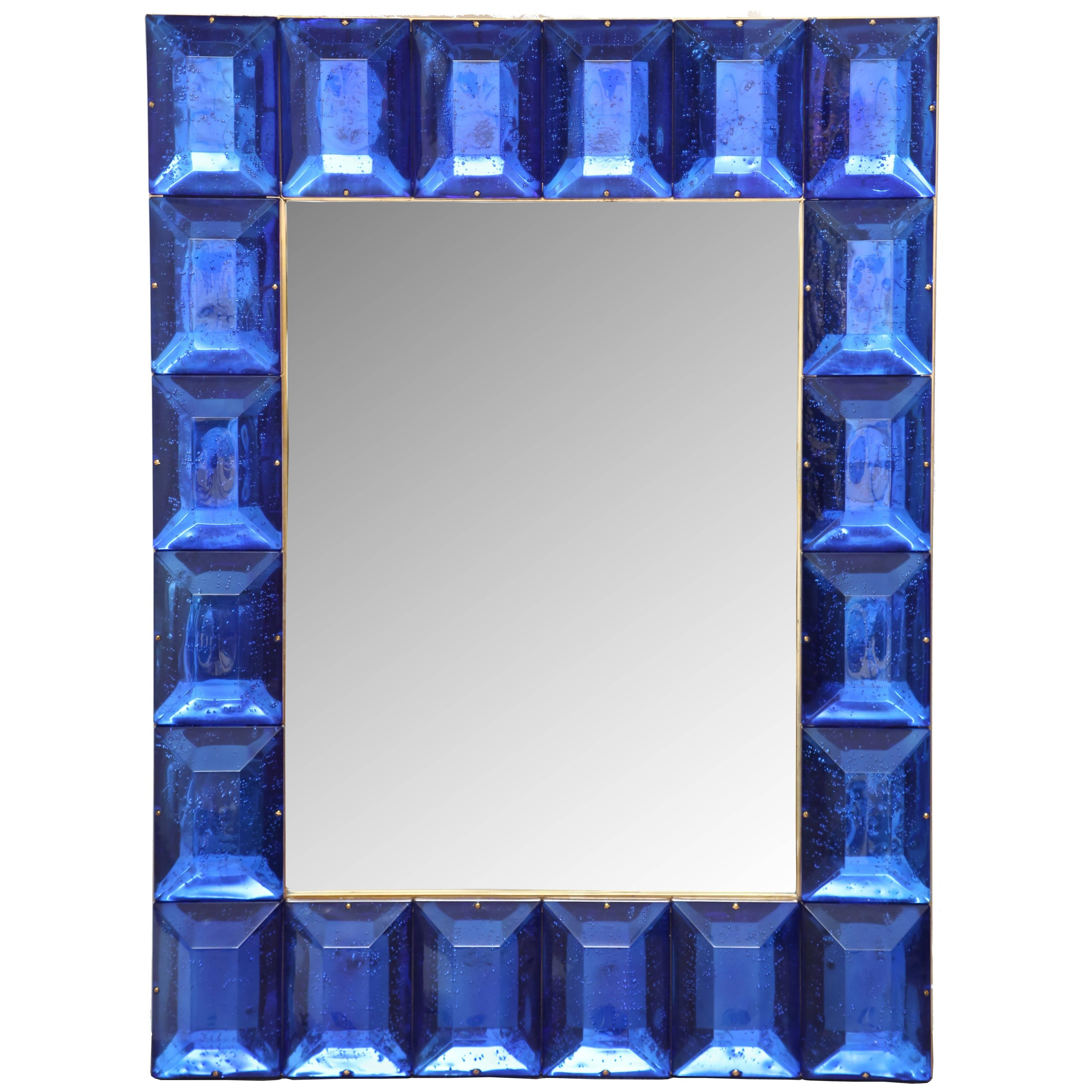 Customizable Faceted Murano Glass Mirror in Emerald Green For Sale at  1stdibs 3c7c83ef499