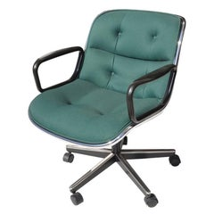 Green Fabric Executive Knoll Pollock Chair