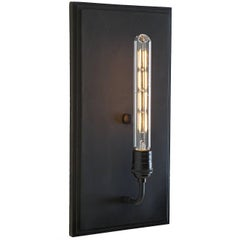Moderne Art Deco Inspired Contemporary Interior Wall Sconce - Black Matte Finish