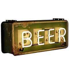 Incredible Double-Sided Neon Beer Sign, circa 1930s