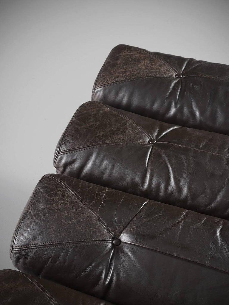 Chaise longue for gervan belgium in rare original leather for Chaise longue leather
