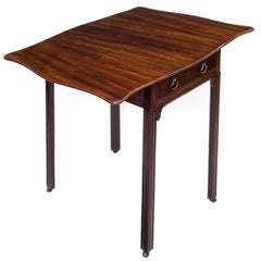 George III Mahogany Serpentine Pembroke Table of Small Proportions