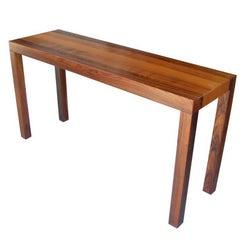 Vintage Mid-Century Danish Parson Rosewood Console Table