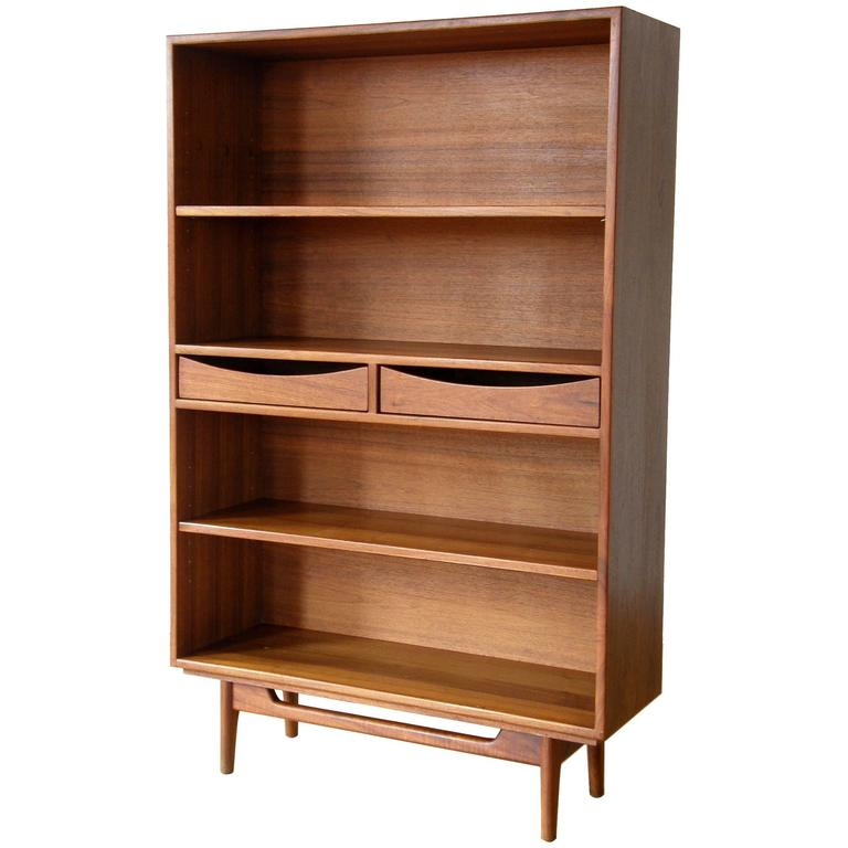 Jens Risom Bookcase with Drawers For Sale