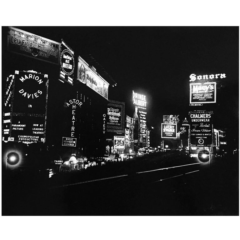 Time Square at Night New York City 1930s (Manhattan photograpy)