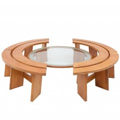 Pierre Chapo style Curved Benches