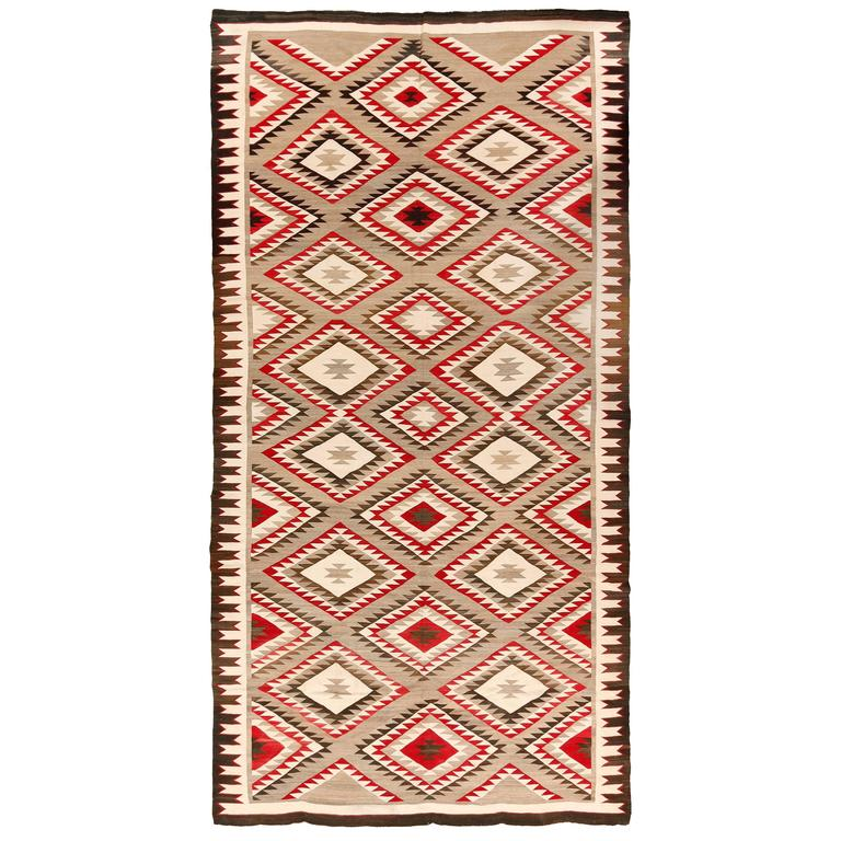 Extremely Rare Room Size Vintage Navajo Rug For Sale At 1stdibs
