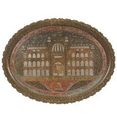 Fine Inlaid Indian Persian Metal Tray