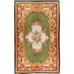 Antique French circa 1850 Aubusson Rug