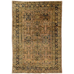 Vintage Mahal Persian Rug with Modern Traditional Style