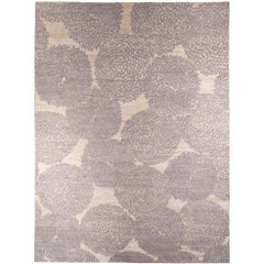 'Dandy' Grey and Raw White Wool Area Rug by Jospeh Carini