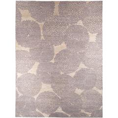 'Dandy' Grey and Raw White Wool Area Rug by Jospeh Carini