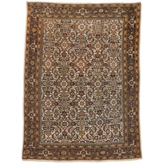 Antique Persian Mahal Rug with Traditional Herati Design