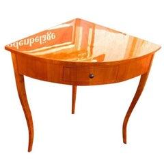 Filigree Biedermeier Console Table Corner Console