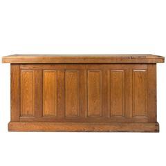 19th Century Chestnut Store Counter