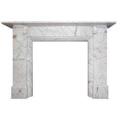 Early 20th Century Edwardian Carrara Marble Chimney Piece Surround