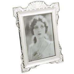 1910s Antique Sterling Silver Photograph Frame