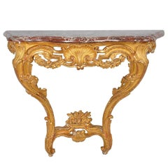 18th Century French Gilded Console Table