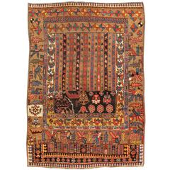 Antique Persian Sampler Bidjar Rug