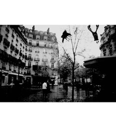 Black and White Photo of Paris by Joachim Lapotre, Signed Fine Art Print
