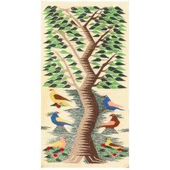Vintage Swedish Scandinavian Tapestry Textile Art