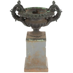 Antique Cast Iron Urn