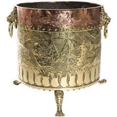 19th Century Brass and Copper Planter